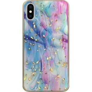 Apple iPhone XR Marble Glitter Case - Colorful